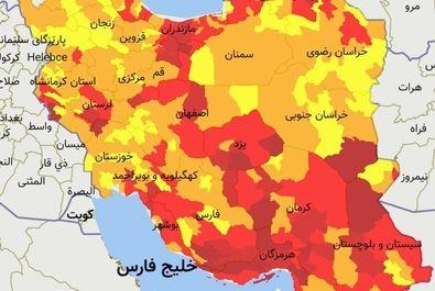 جزییات رنگ بندی کشور از 19 تیر
