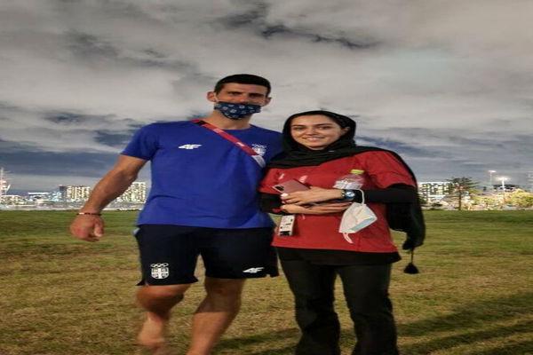 سریعترین دختر ایران و  نواک جوکوویچ؛عکس