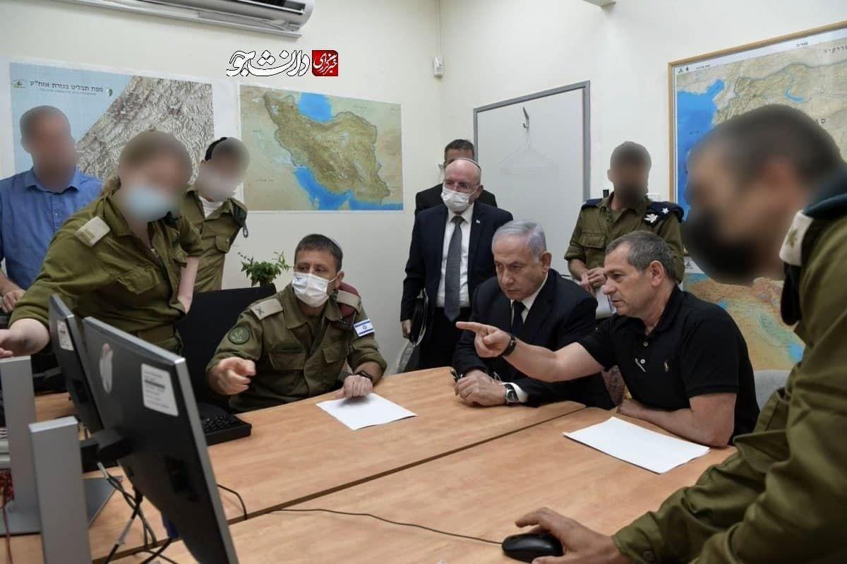 تصویر نقشه ایران در اتاق جنگ اسرائیل با حضور نتانیاهو