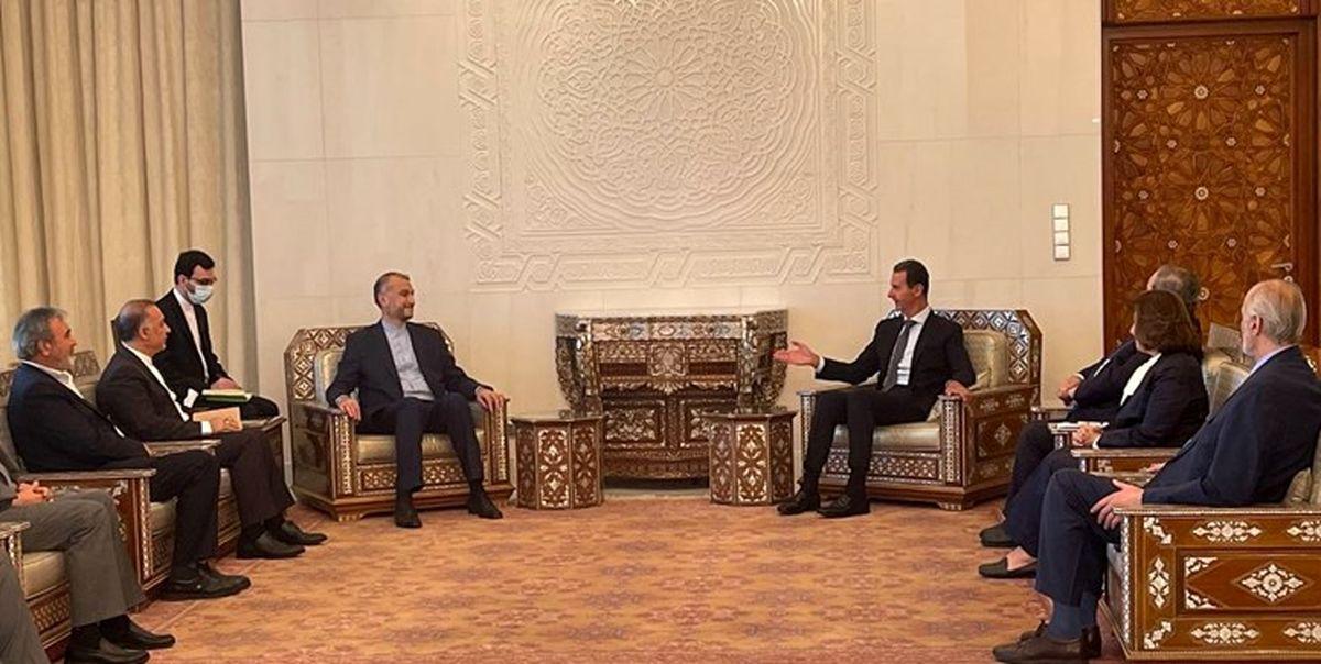قدردانی بشار اسد از حمایت های ایران از سوریه