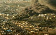 عکس هوایی از پالایشگاه تهران در حال سوختن