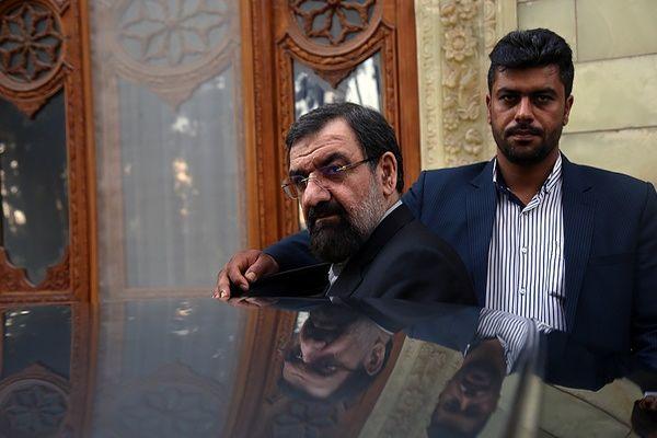 اولین عکس از حضور محسن رضایی در شعبه اخذ رای