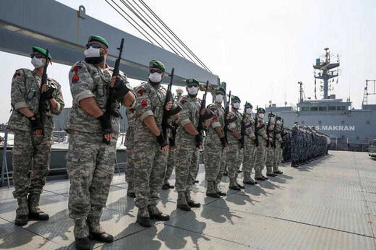 استقبال رسمی از ناوگروه ۷۵ نیروی دریایی ارتش