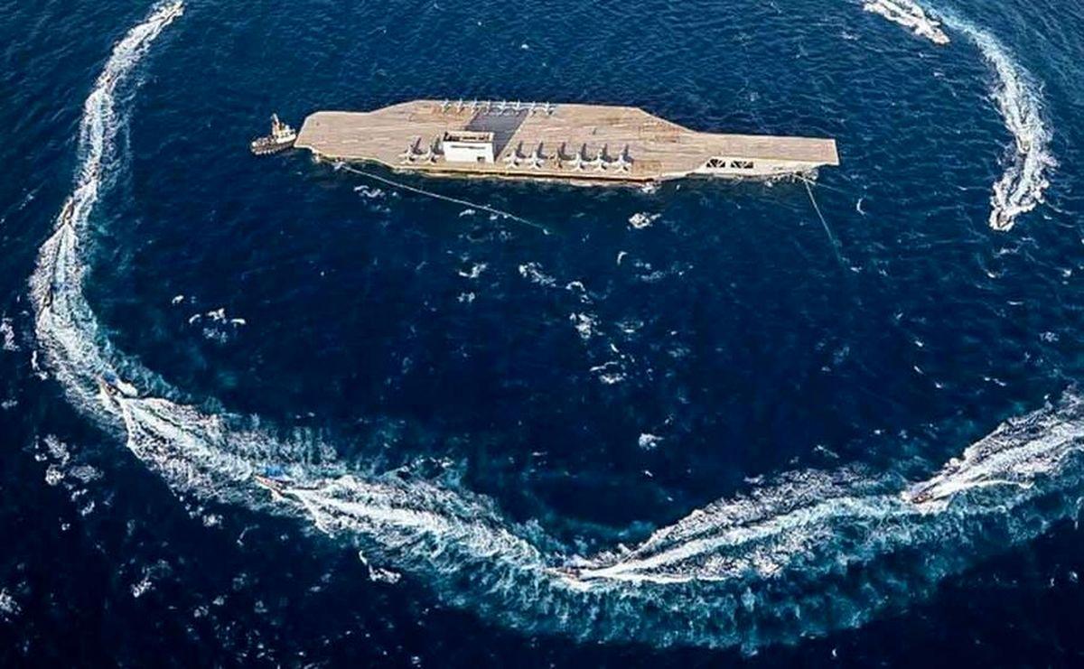 فیلم درگیری و تقابل نیروی دریایی آمریکا با ناو سپاه پاسداران