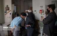 دیدار حجت الاسلام دعایی، احمد مسجد جامعی و مسیح مهاجری از منزل مرحوم علامه حکیمی