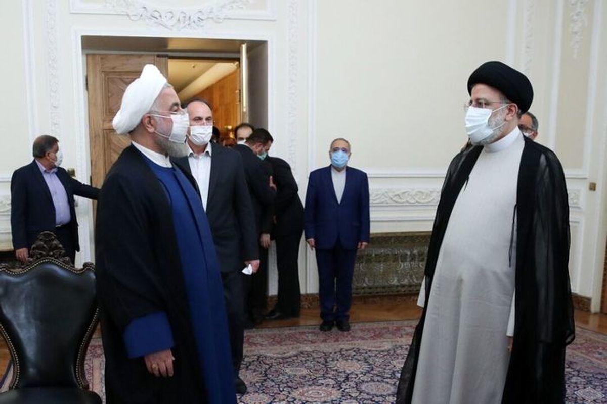 رئیسی و روحانی در دفتر ریاست جمهوری به هم چه گفتند