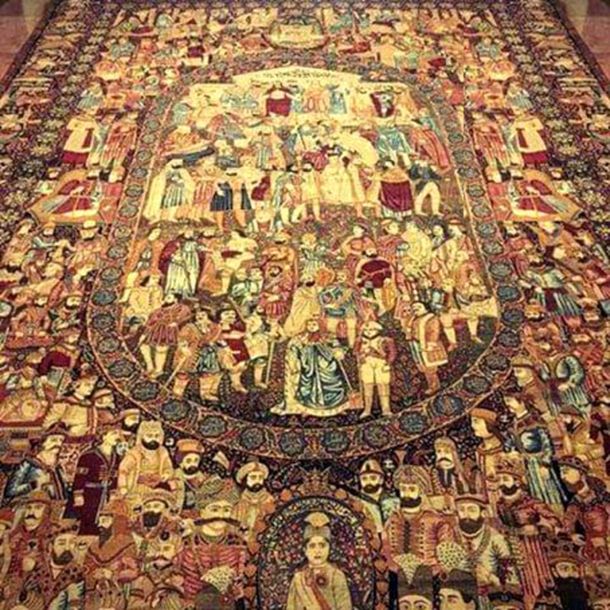 تصویر دیدنی ترین فرش جهان در کاخ نیاوران