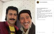 علیرضا خمسه عزادار شد/ عکس