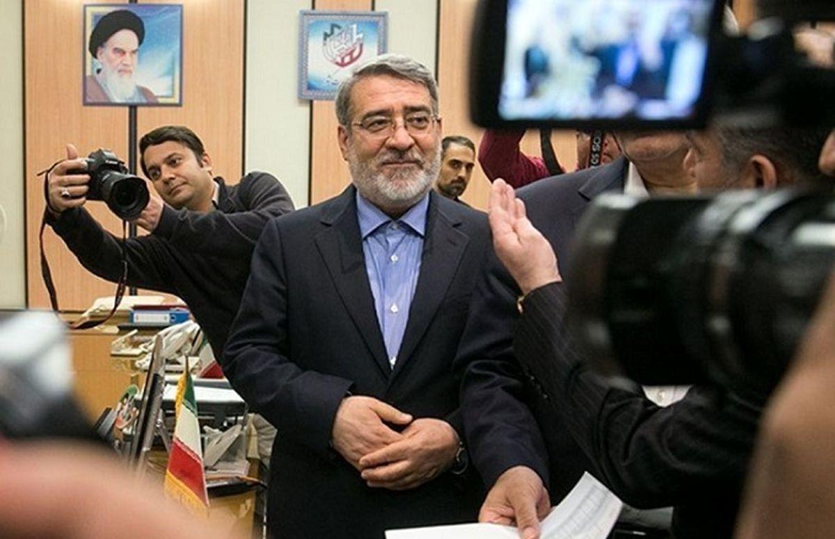 بازدید عبدالرضا رحمانی فضلی از ستاد انتخابات وزارت کشور