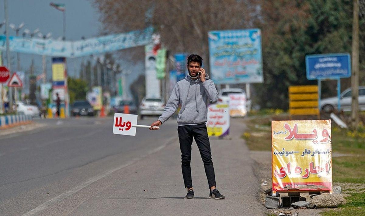 نوروز ۱۴۰۰ در کنار ساحل بابلسر+عکسها