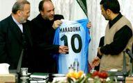 هدیه جذاب دیگو مارادونا به محمود احمدی نژاد + عکس