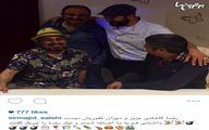 مجید صالحی، مهران غفوریان و عبدالرضا کاهانی در جشن تولد رضا عطاران/عکس