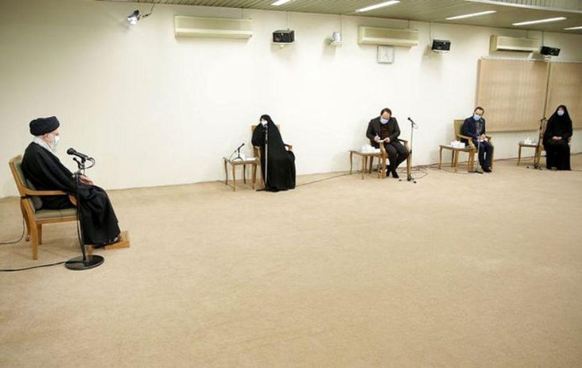 خانواده دانشمند شهید فخریزاده با رهبر انقلاب اسلامی دیدار کردند